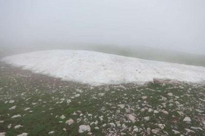 Albania Kukes Gjallica July snow