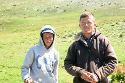 Albania Kukes Gjallica shepherds
