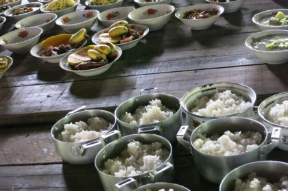 Cambodian food monastery