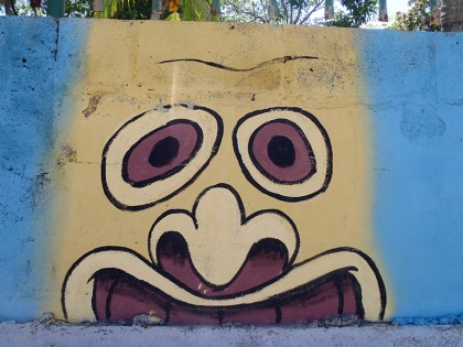 El Salvador street art: head