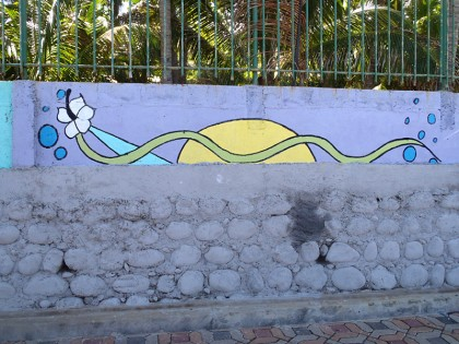 El Salvador street art on walkway