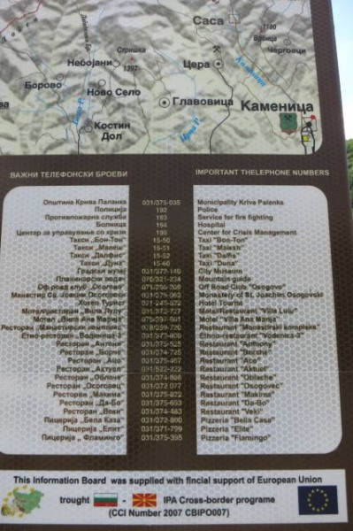 Hitchhiking Macedonia pizza sign
