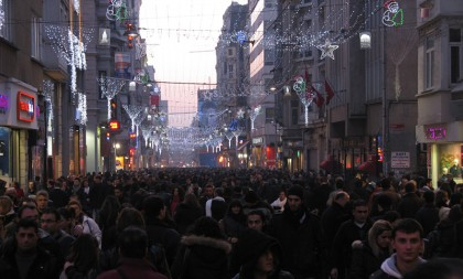 Istiklal street in Istanbul