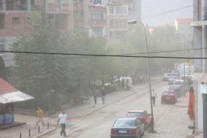 Kukes Albania dust storm