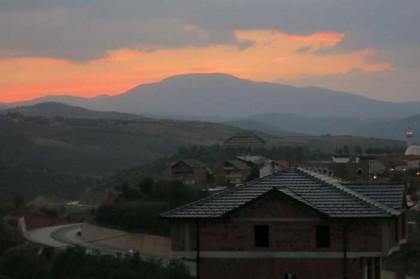 Kukes Albania sunset