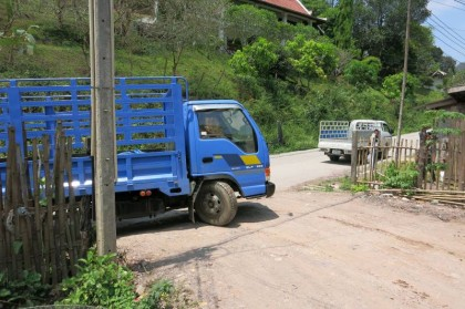 Laos changing buses