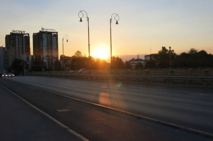 Macedonia Skopje sunset