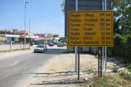 Montenegro street sign