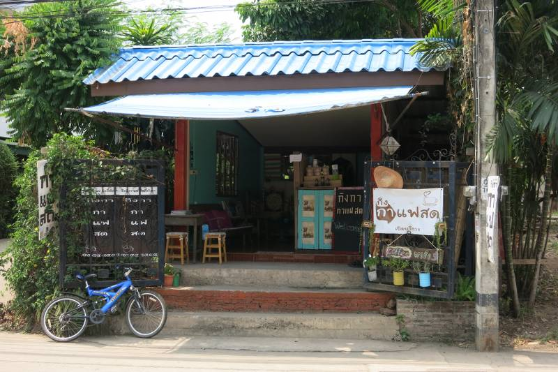 Uttaradit Thailand  city pictures gallery : Nice cafe run from a guy's old garage
