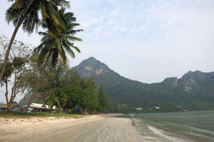 Prachuap Khiri Khan beach and mountain