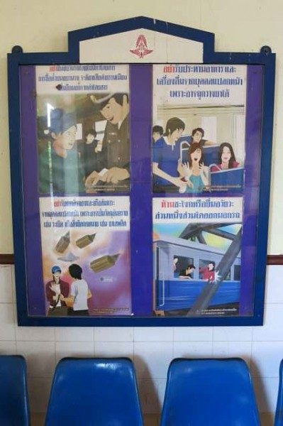 Ratchaburi train warning signs