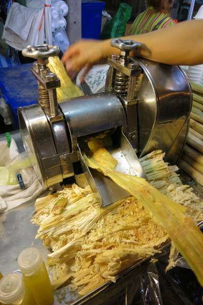 Thai food: sugar cane drink