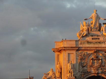 Arco da rua Augusta in sunset light, Lisbon (Portugal)