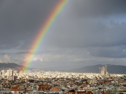 Barcelona rainbow