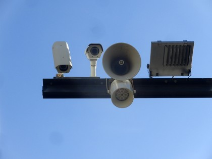 Barcelona video surveillance and speakers