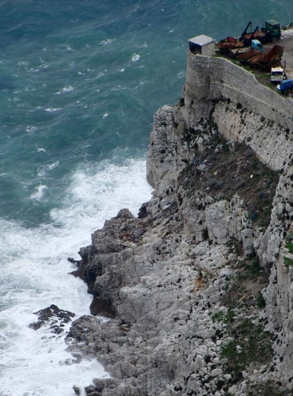 Big waves on coast, Gibraltar