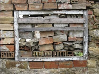 Blocked window in Veliko Ternovo