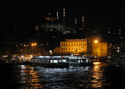 Bosphorus at night time