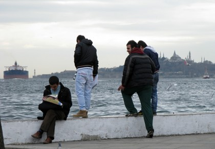 People near Bosphorus