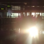 Brussels airport - gate with sunrise