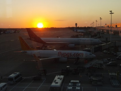 Brussels airport - sunrise