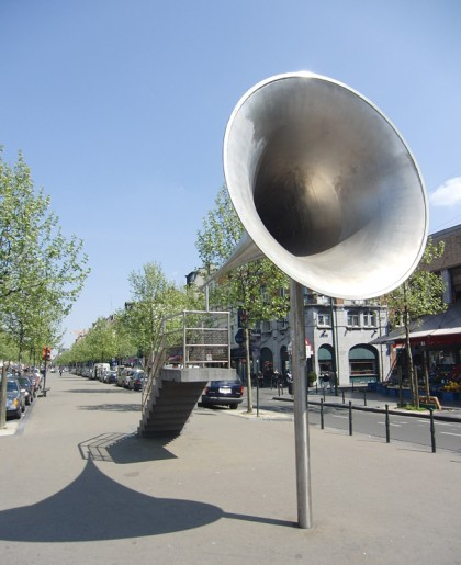 Brussels megaphone speech place