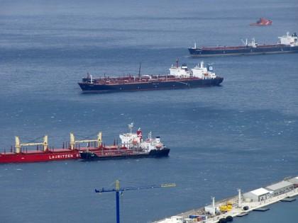 Cargo ships (docked), Gibraltar