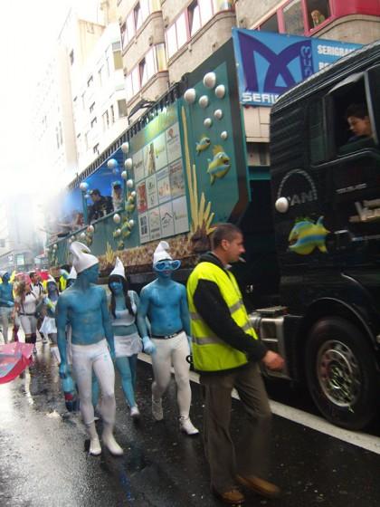 Carnaval smurfs