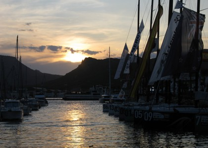 MedCup Circuit boats in the harbour in the evening after the race