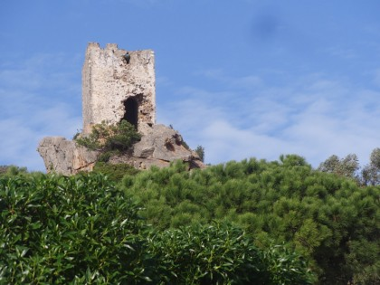 Old castle on top of forest, Tarifa