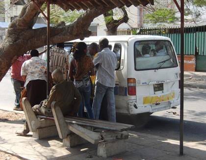 Chapa (minibus) in Maputo, Mozambique