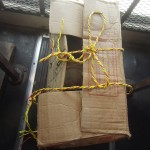 Chicken bus: chicken in box