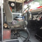 Chicken bus driver seat