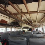 Chicken bus in Nicaragua, inside