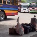 Chicken buses, Esteli - Matagalpa luggage