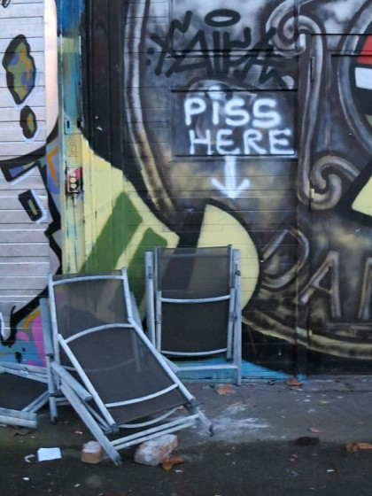 Street Art in Copenhagen, Denmark (16) Piss here