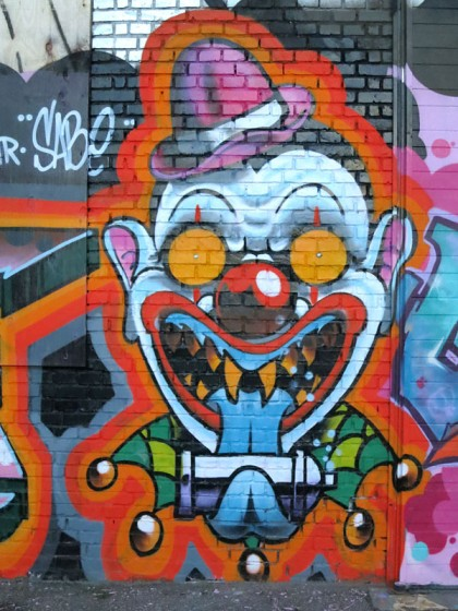 Street Art in Copenhagen, Denmark (19) Clown