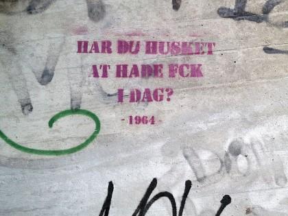 Street Art in Copenhagen, Denmark (6) Hate FCK
