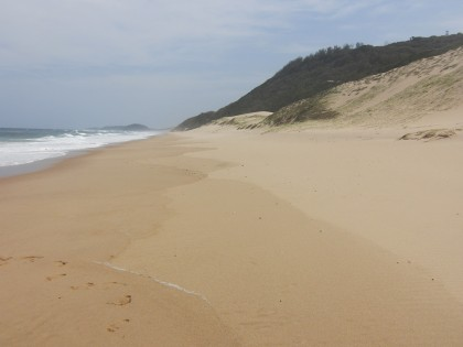 Deserted empty beach - Ponta d'ouro