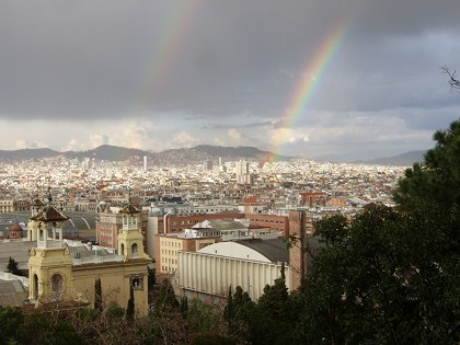 Double rainbow in Barcelona
