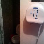 El Rama hostel with toilet paper in living room