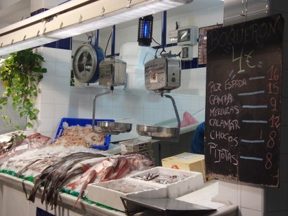 Fish market in Tarifa, Spain
