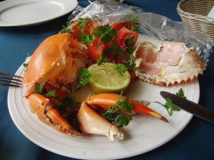 Fresh crab plate