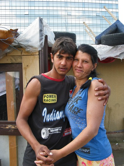 gypsy mother and son