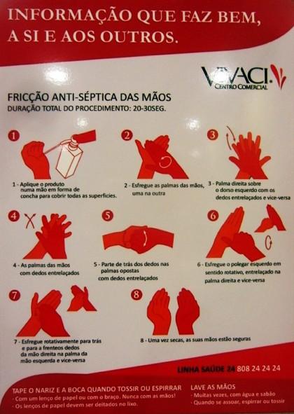 Hand washing technique poster, Guarda (Portugal)