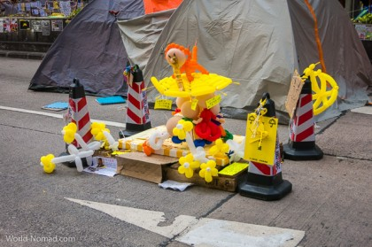 Hong Kong protest - street art