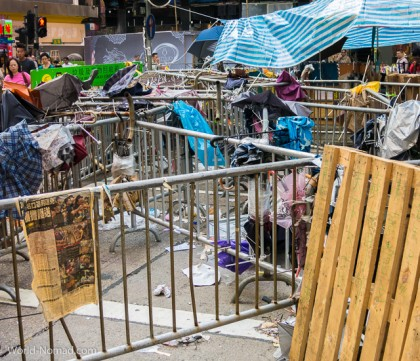 Hong Kong protest - street blockade