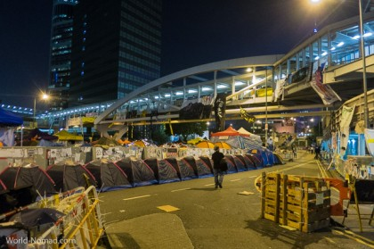 Hong Kong protest - night tents