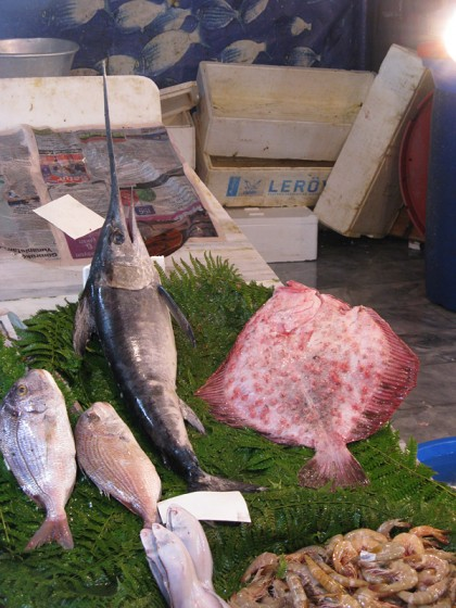 Istanbul fishmarket near the shore of Bosphorus