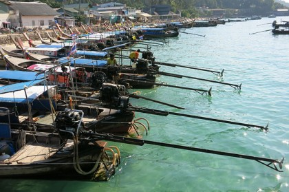 Ko Phi Phi boats in harbour